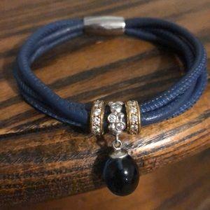 Endless triple strand leather bracelet